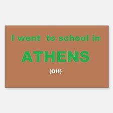 I Went To School In Athens (oh) Decal