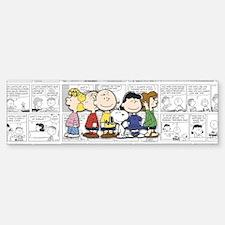 The Peanuts Gang Bumper Bumper Sticker