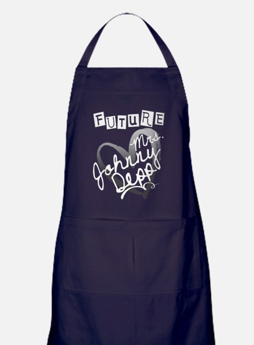 Future Mrs. Johnny Depp Apron (dark)