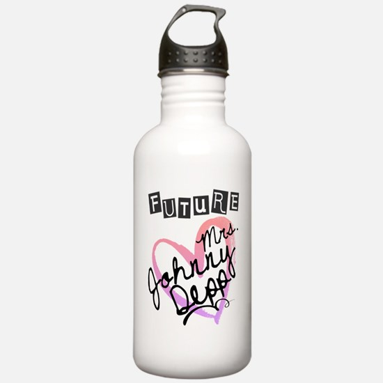 Future Mrs. Johnny Dep Water Bottle