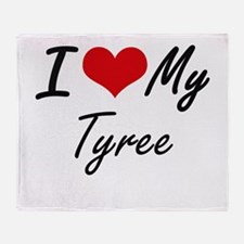 I Love My Tyree Throw Blanket