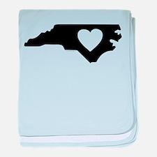 I Love North Carolina baby blanket