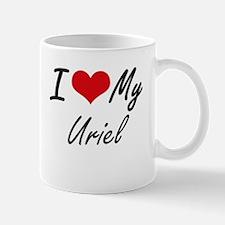 I Love My Uriel Mugs