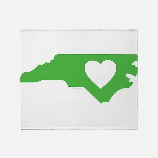 I Love North Carolina Throw Blanket