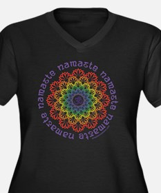 Funny Chakra Women's Plus Size V-Neck Dark T-Shirt
