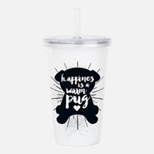 Happiness Is A Warm Pu Acrylic Double-wall Tumbler