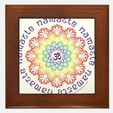 Namaste Lotus Framed Tile