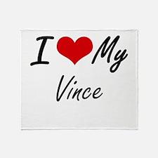 I Love My Vince Throw Blanket