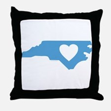 I Love North Carolina Throw Pillow