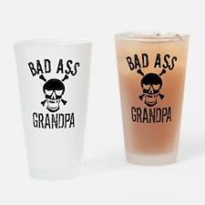 Bad Ass Grandpa Drinking Glass