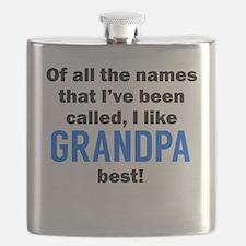 I Like Grandpa The Best Flask