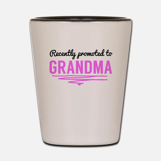 Recently Promoted To Grandma Shot Glass