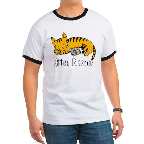Kitten Rescue Men's Ringer T