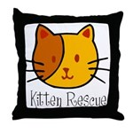 Kitten Rescue Throw Pillow