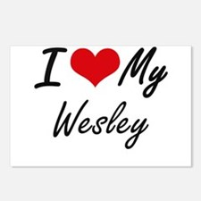 I Love My Wesley Postcards (Package of 8)