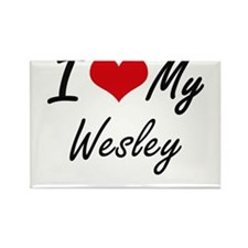 I Love My Wesley Magnets