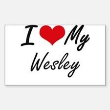 I Love My Wesley Decal