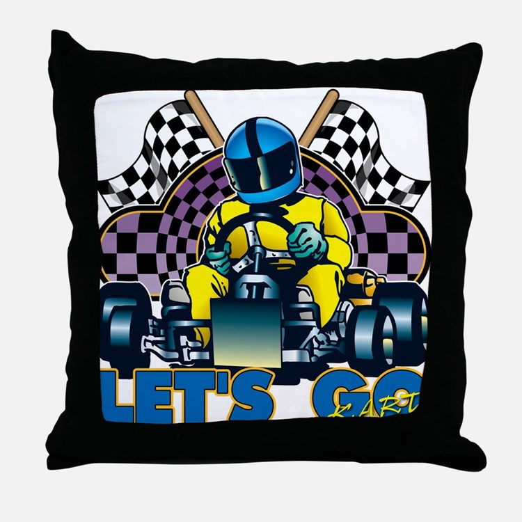 Let's Go Kart! Throw Pillow