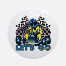 Let's Go Kart! Ornament (Round)