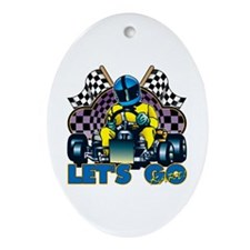 Let's Go Kart! Oval Ornament