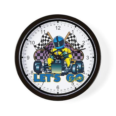 Let's Go Kart! Wall Clock