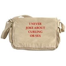 curling joke Messenger Bag