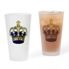 Unique Cross and crown Drinking Glass