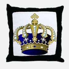 Unique Crown Throw Pillow