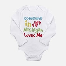 Unique Someone california loves me Long Sleeve Infant Bodysuit