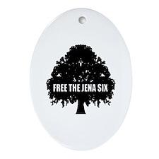#6 Free the Jena Six Oval Ornament