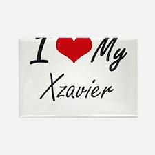 I Love My Xzavier Magnets