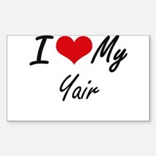 I Love My Yair Decal