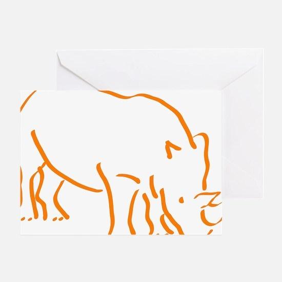 Funny Rhino Greeting Card