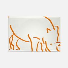 Cute Rhino Rectangle Magnet