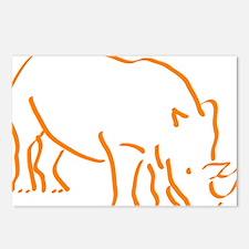 Cute Rhino Postcards (Package of 8)