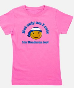 Cute Honduras Girl's Tee
