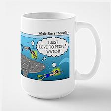 Whale Shark Thoughts Large Mug