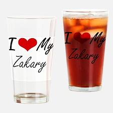 I Love My Zakary Drinking Glass