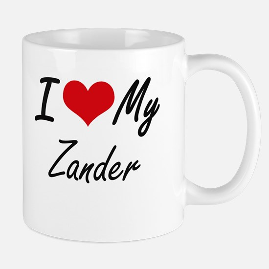 I Love My Zander Mugs