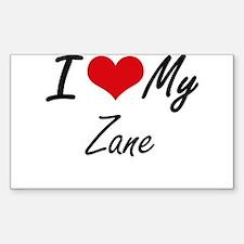 I Love My Zane Decal