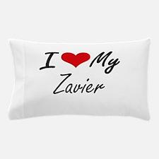 I Love My Zavier Pillow Case