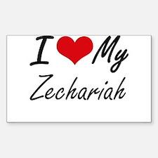 I Love My Zechariah Decal