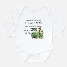 Unique Girls on the run Long Sleeve Infant Bodysuit