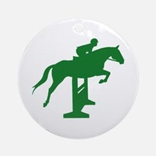 Hunter Jumper Fence Green Ornament (Round)