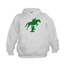 Hunter Jumper Fence Green Hoodie