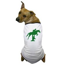 Hunter Jumper Fence Green Dog T-Shirt