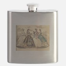Godey's Ladies Book Victorian Fashion Plate Flask
