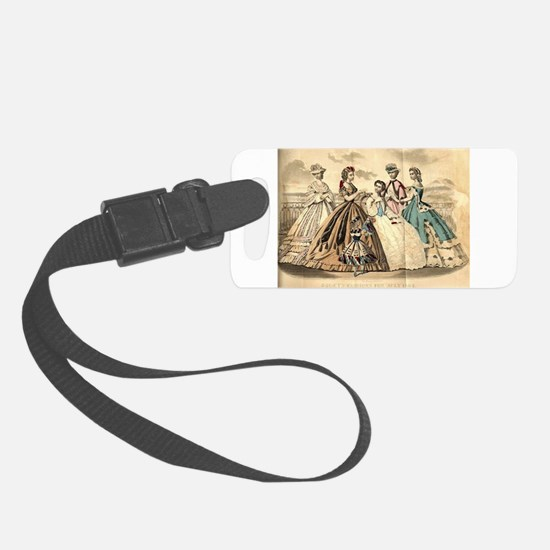Godey's Ladies Book Victorian Fa Small Luggage Tag