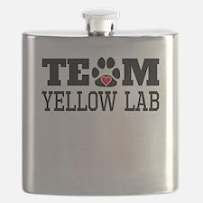 Team Yellow Lab Flask