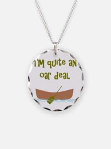 I'm quite an oar deal Necklace